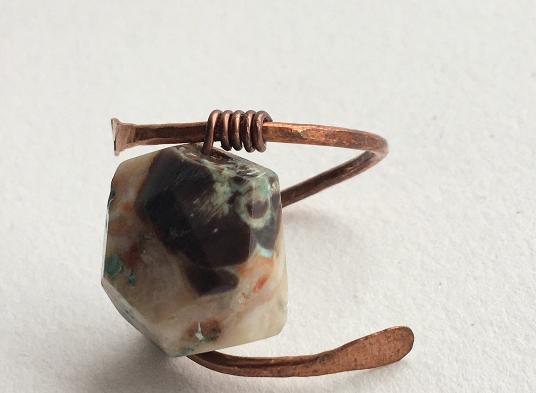 Copper and Stone Ring 2