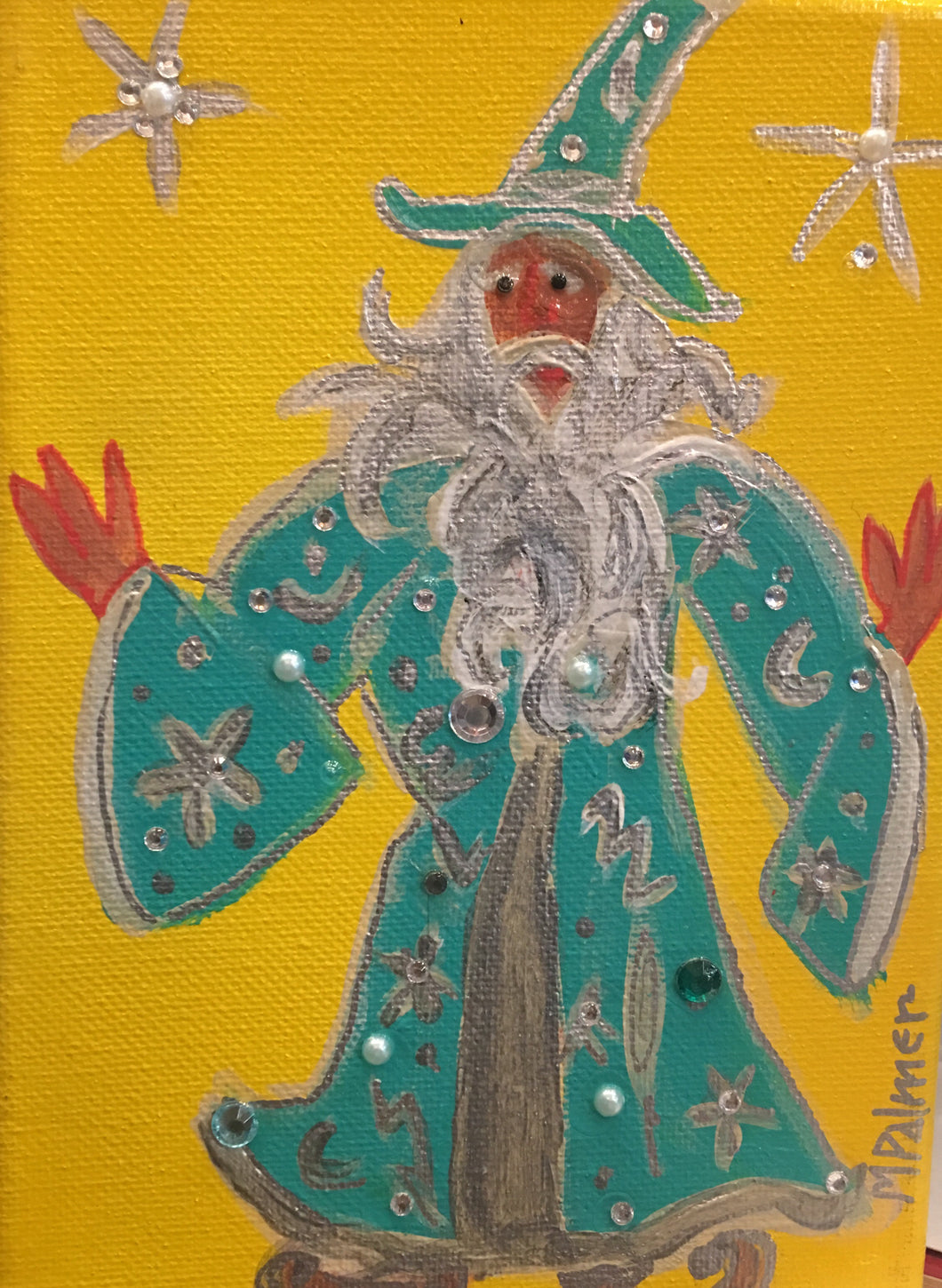 Blue Wizard with Stars