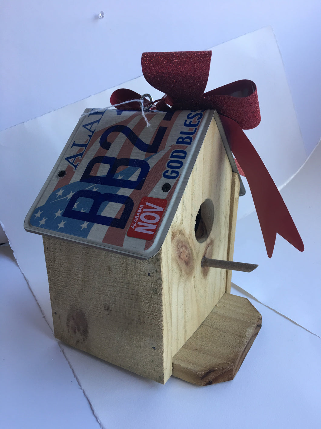 Alabama License Plate Bird House