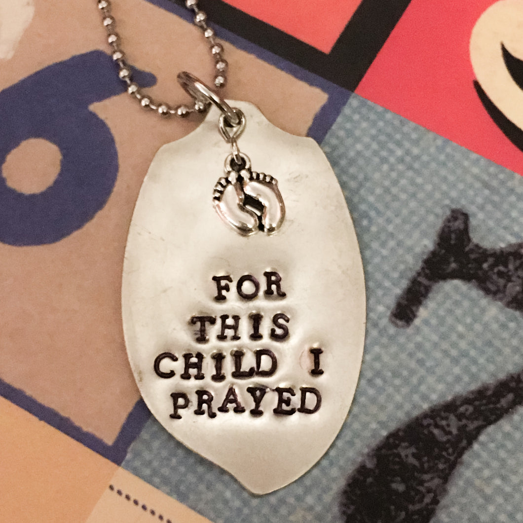 For This Child I Prayed Spoon Necklace 1