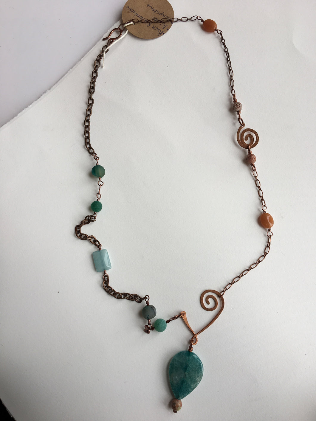 Copper, and Agate Necklace