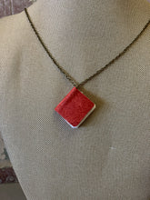 "26"" Red Mini Leather Journal Necklace"