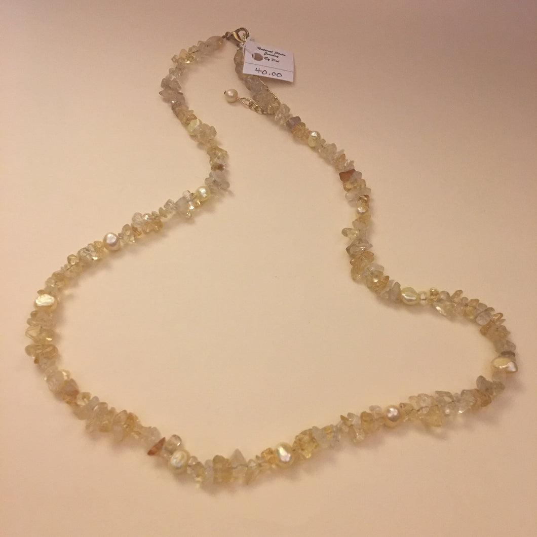 Citrine and Freshwater Pearls