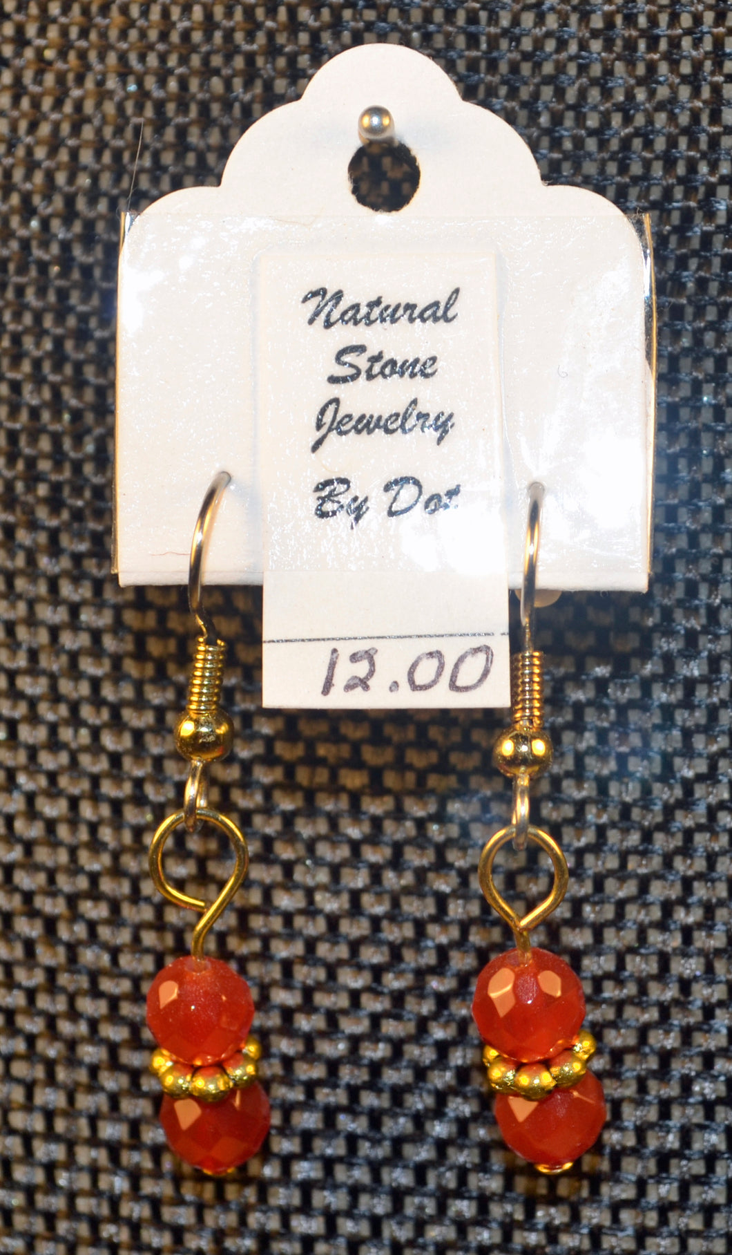 earrings faceted product carnelian cut
