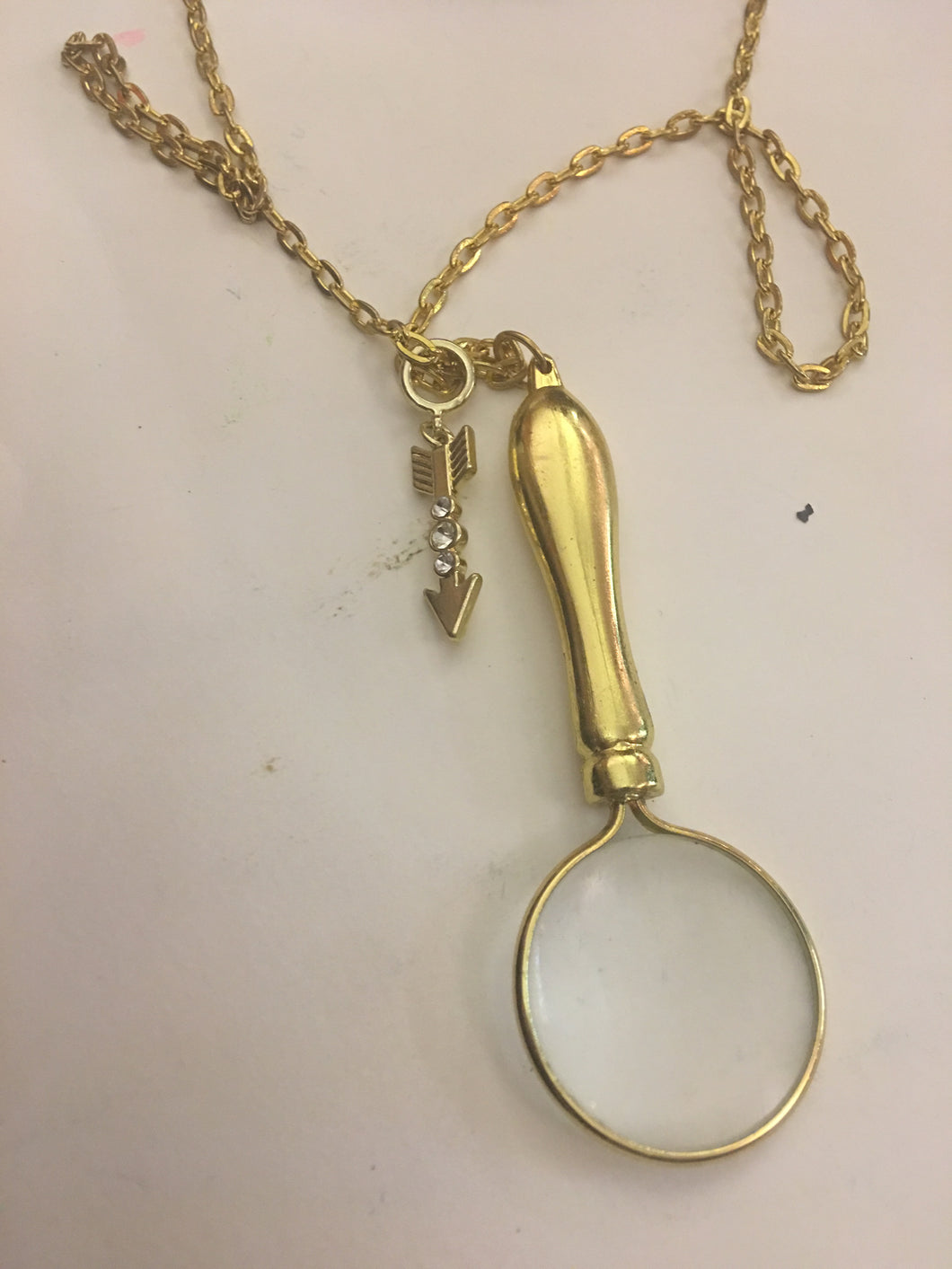 Gold Magnifying Necklace