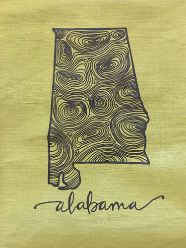 Alabama Woodgrain Jute Market Bag