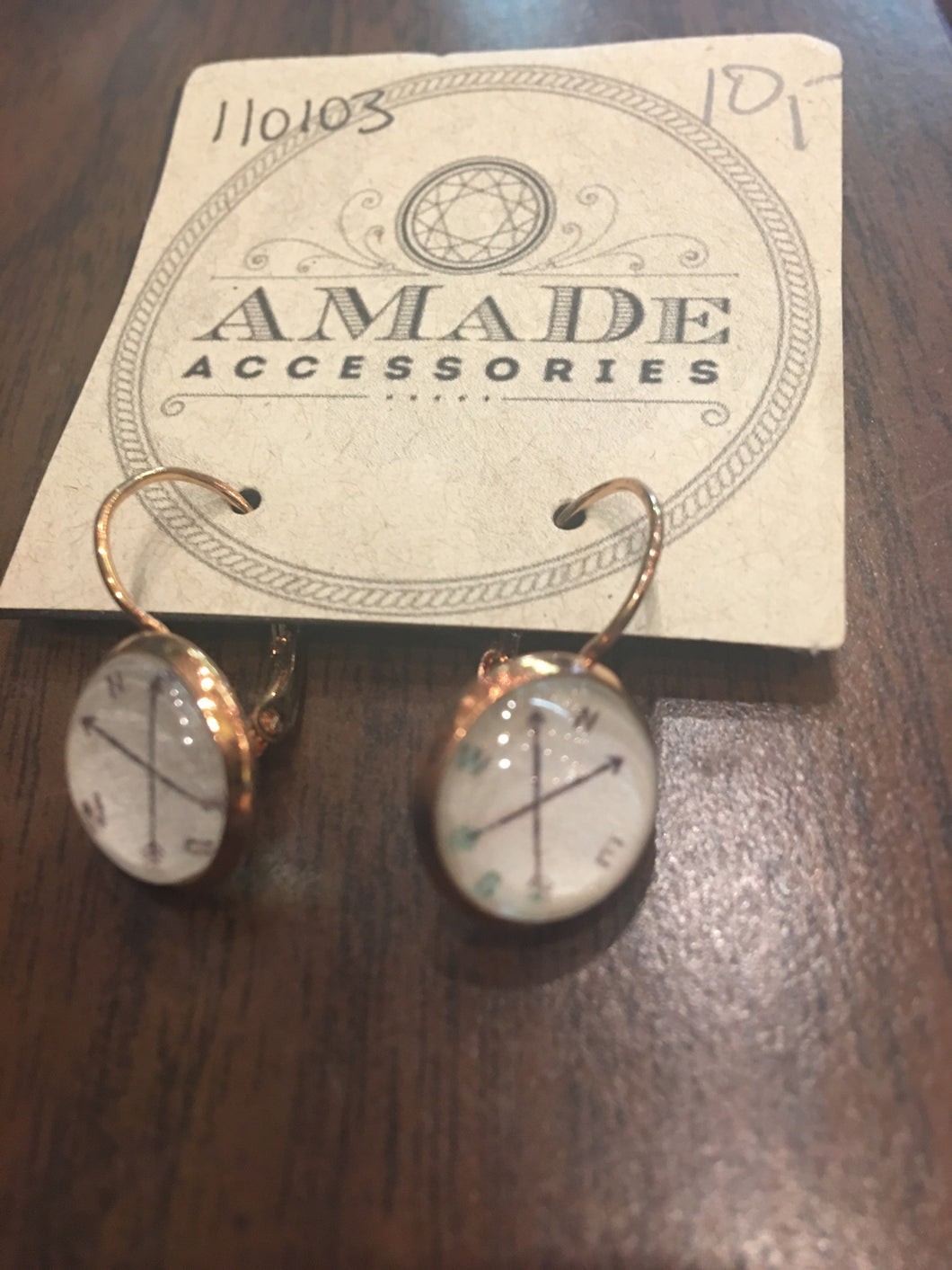 AMaDe Compass Earrings