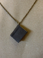 "30"" Black Mini Leather Journal Necklace"