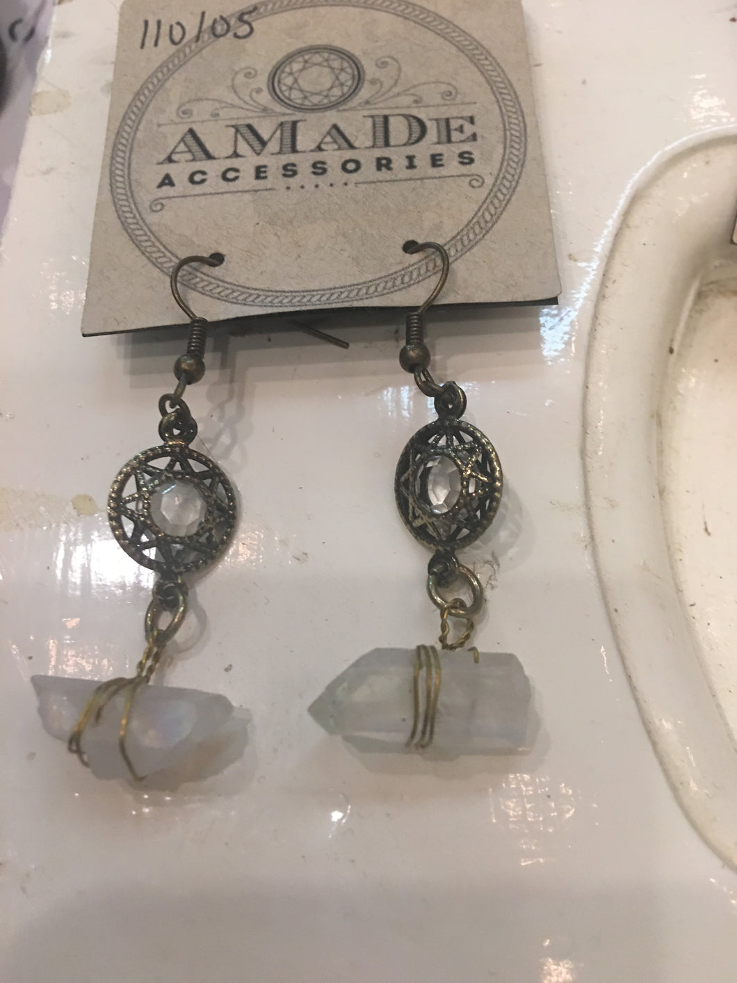 AMaDe Crystal Hanging Earrings