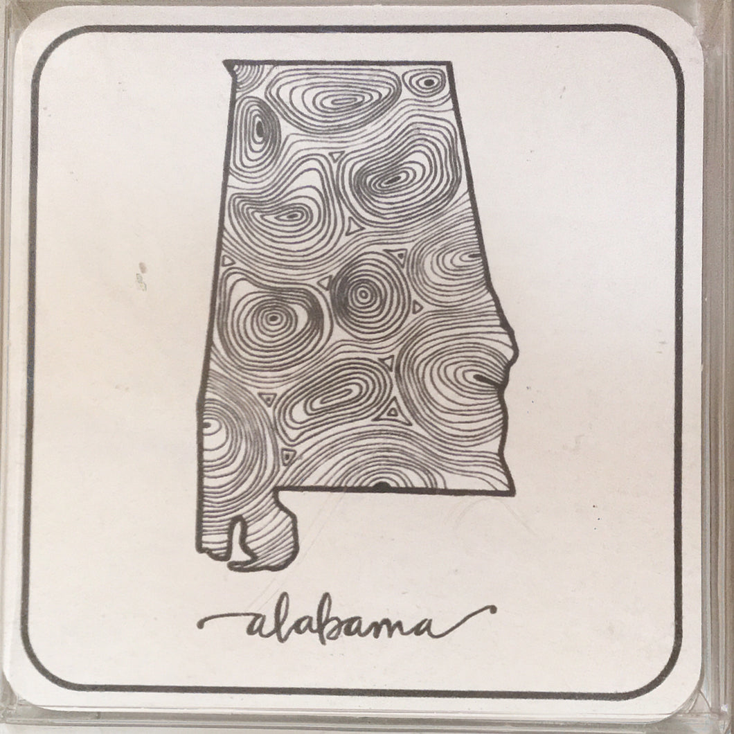 Alabama Paper Coasters