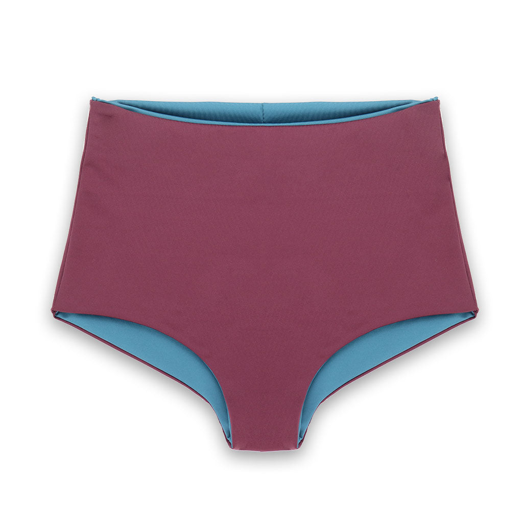 Nava Reversible Bikini Bottoms in Calypso & Fig