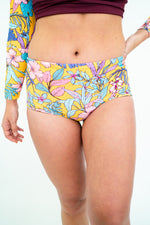 The NAVA Reversible Bikini Bottoms in Medallion & Fig