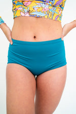 The NAVA Reversible Bikini Bottoms in Medallion & Teal