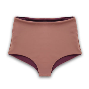 Nava Reversible Bikini Bottoms in Chestnut & Fig