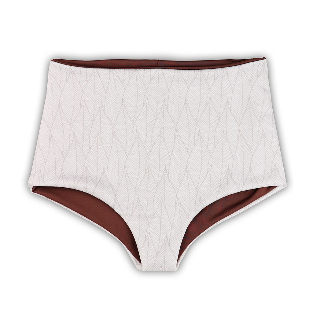 Nava Reversible Bikini Bottoms in Nalani Leaf & Chestnut