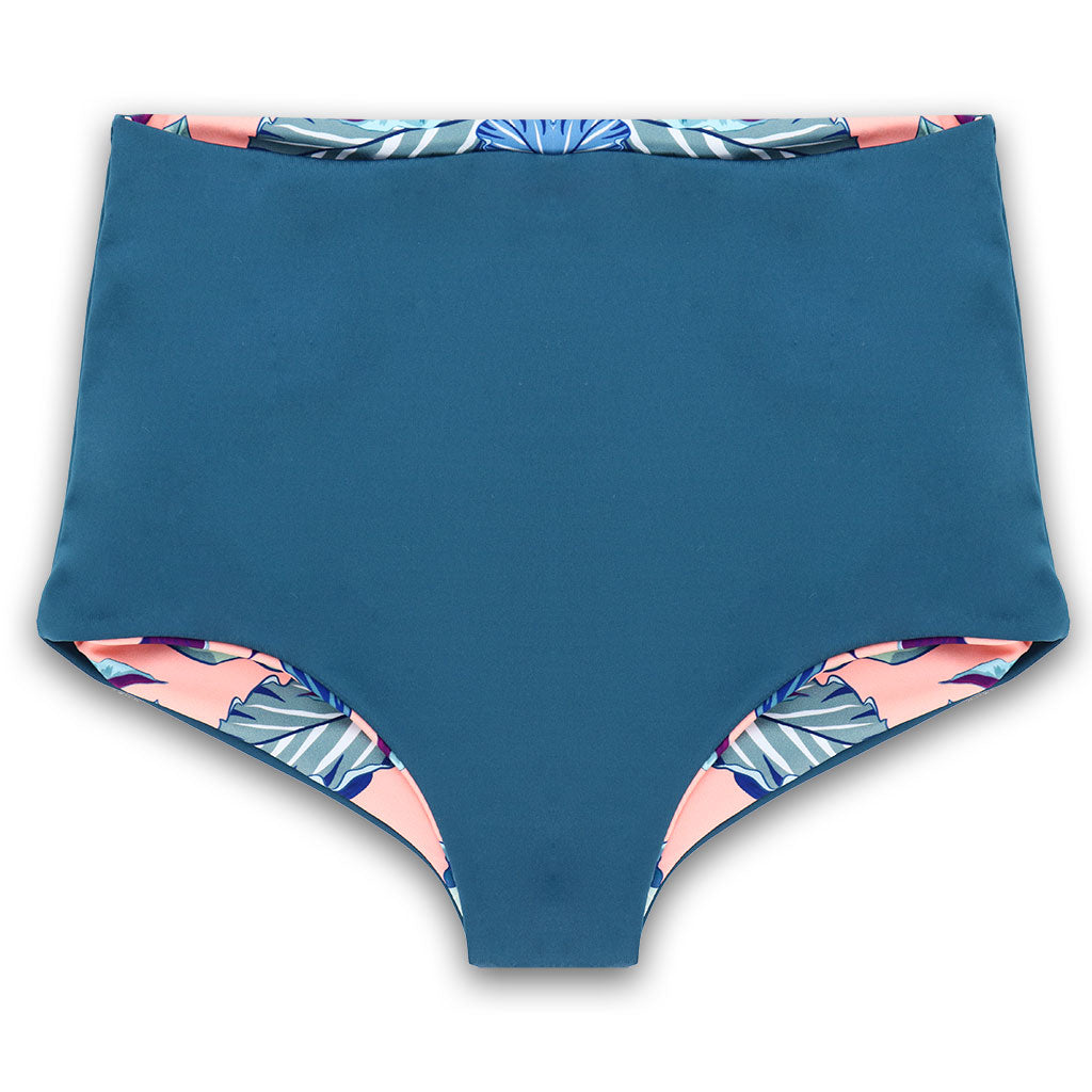 Nava Reversible Bikini Bottoms in Tropical Blues & Calypso
