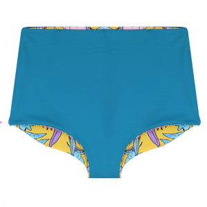 Nava Reversible Bikini Bottoms in Medallion & Teal