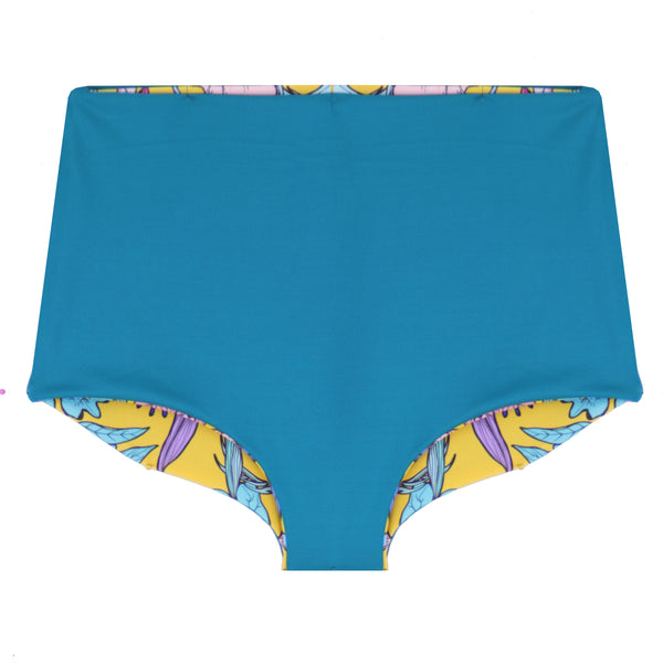 The NAVA Reversible Bikini Bottoms - Medallion & Teal