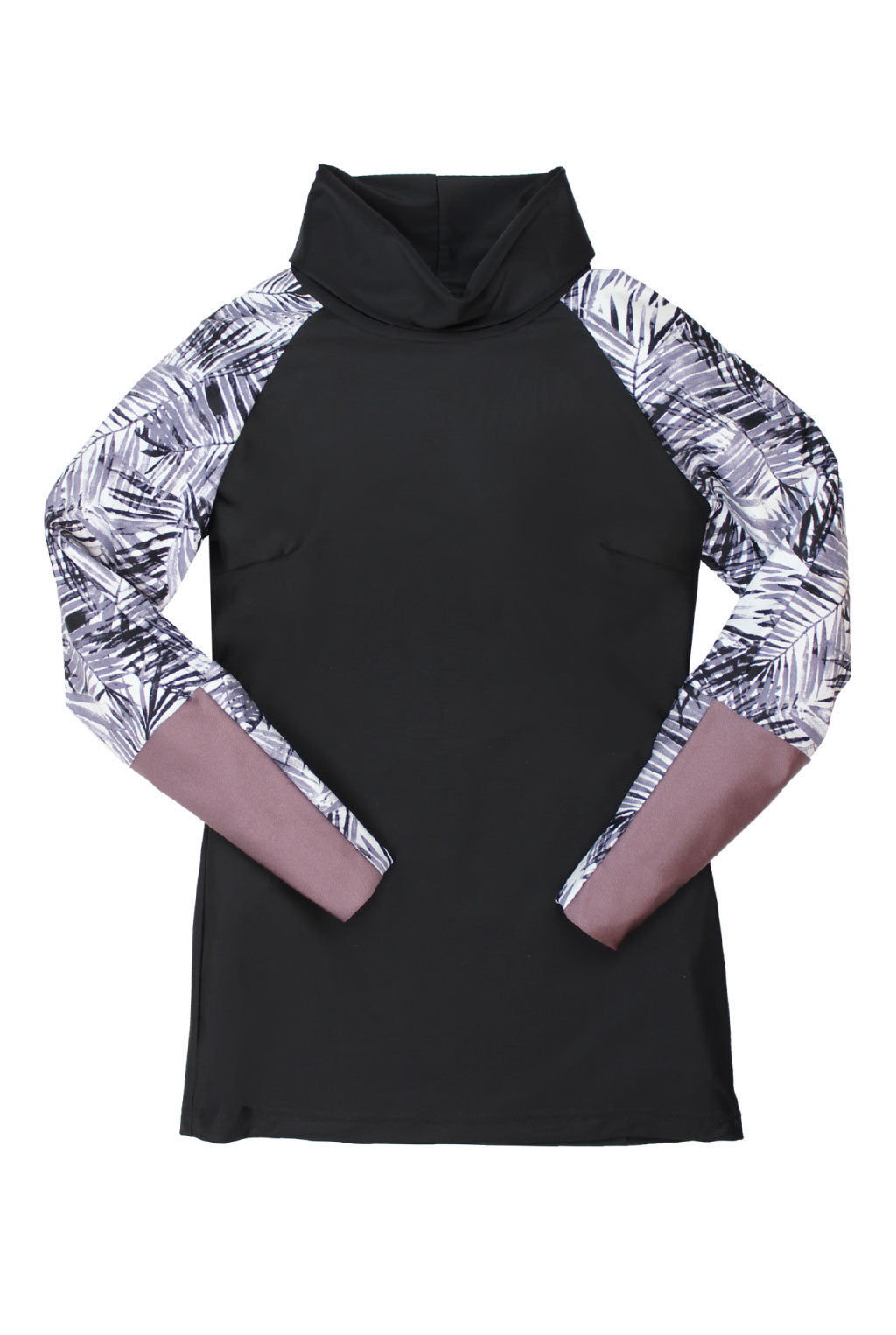 The Mazu Rash Guard in Black Palm