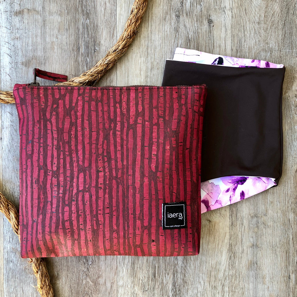 The BRIZO Bikini Bag in Merlot