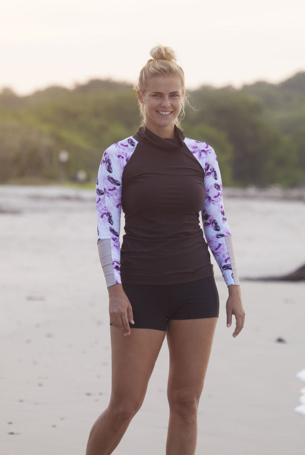 The MAZU Rash Guard - Autumn Blush