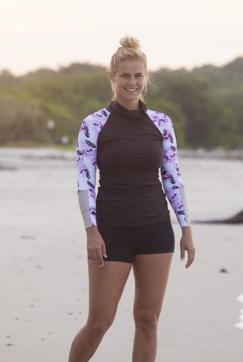 The MAZU Rash Guard in Autumn Blush