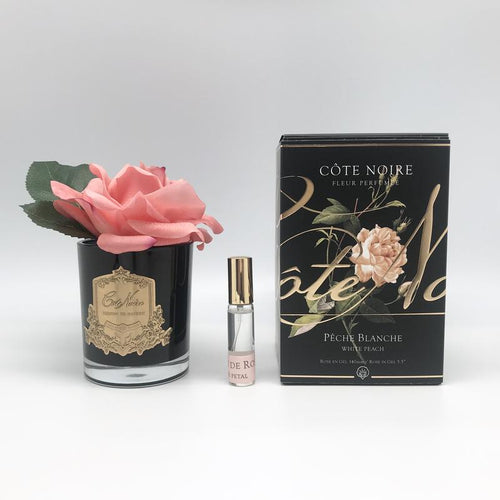 Perfumed Natural Touch Single Rose - White Peach