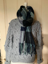 Scarves Navy's  , blues and greens