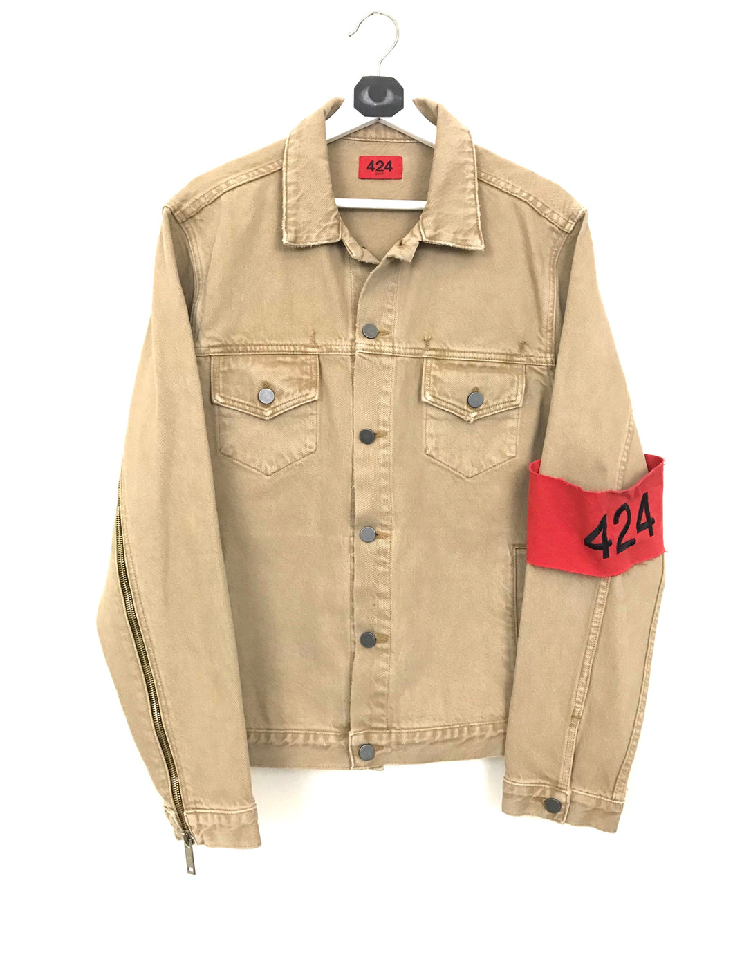 424 Denim Trucker Jacket- Camel (Under Retail)