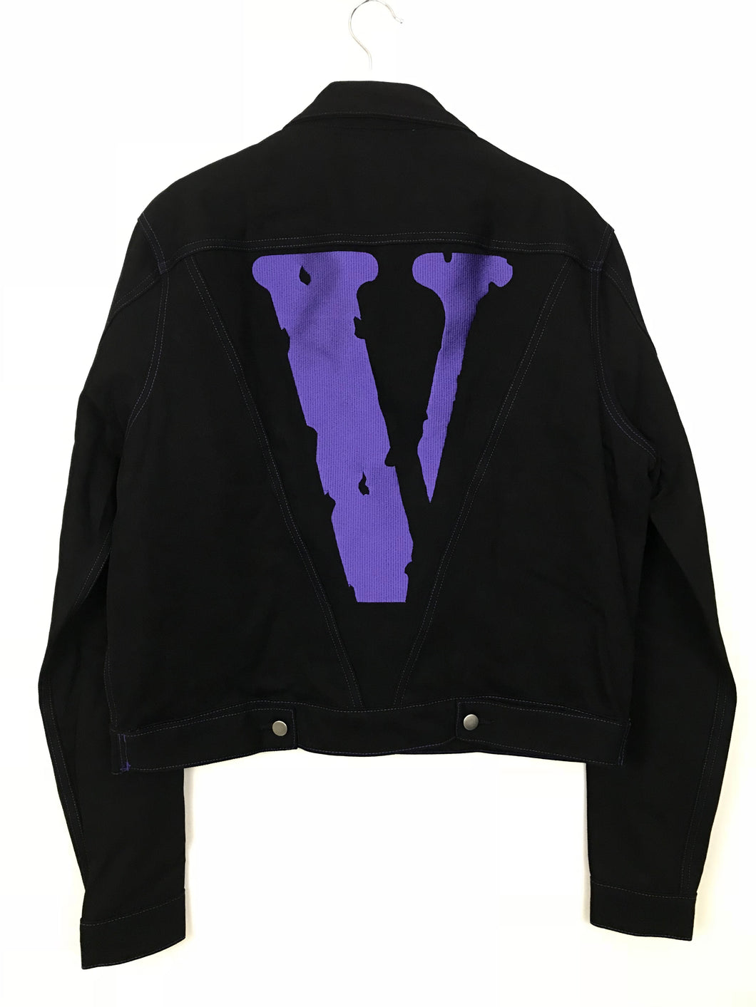 Vlone Friends Denim Jacket- Purple