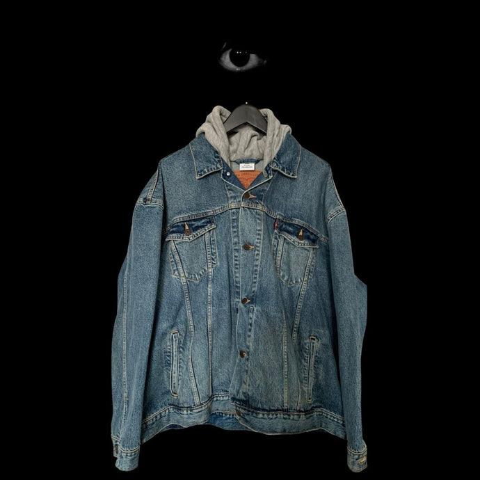 Vetements x Levis Oversized Hooded Denim Jacket