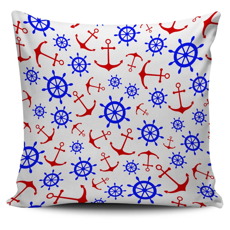Pillow Cover - Anchors & Wheels - Pillow/Cushion Cover