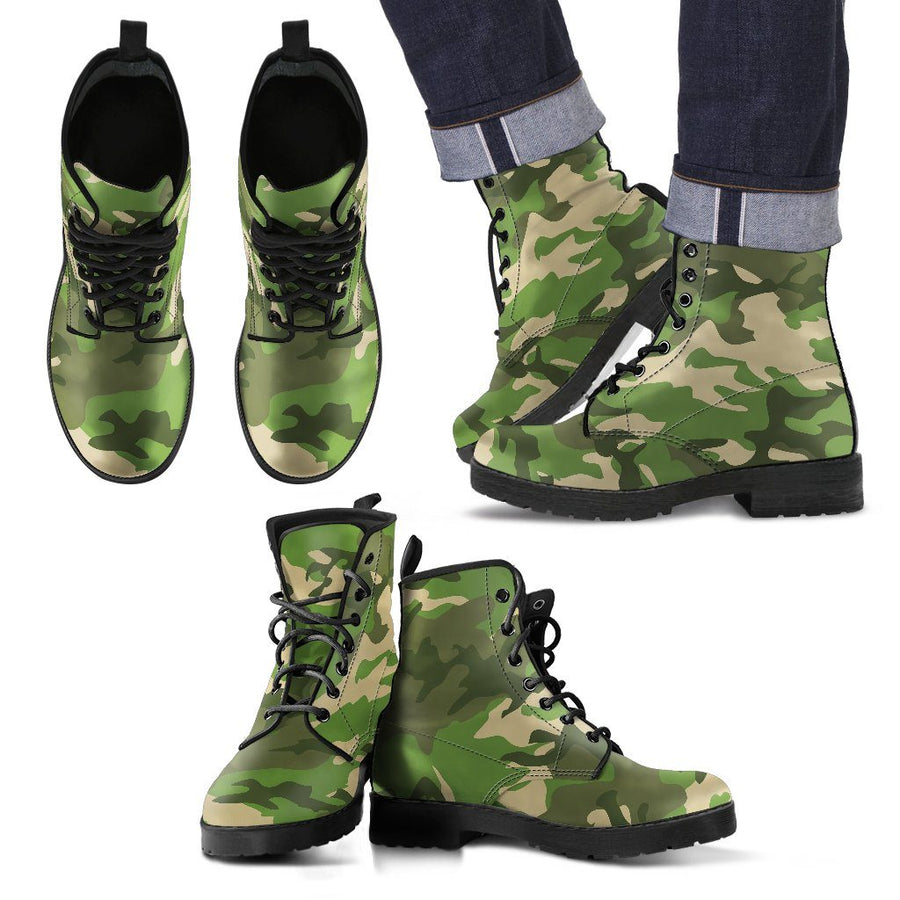 Shoes - Camouflage Jungle - Men's Leather Boots