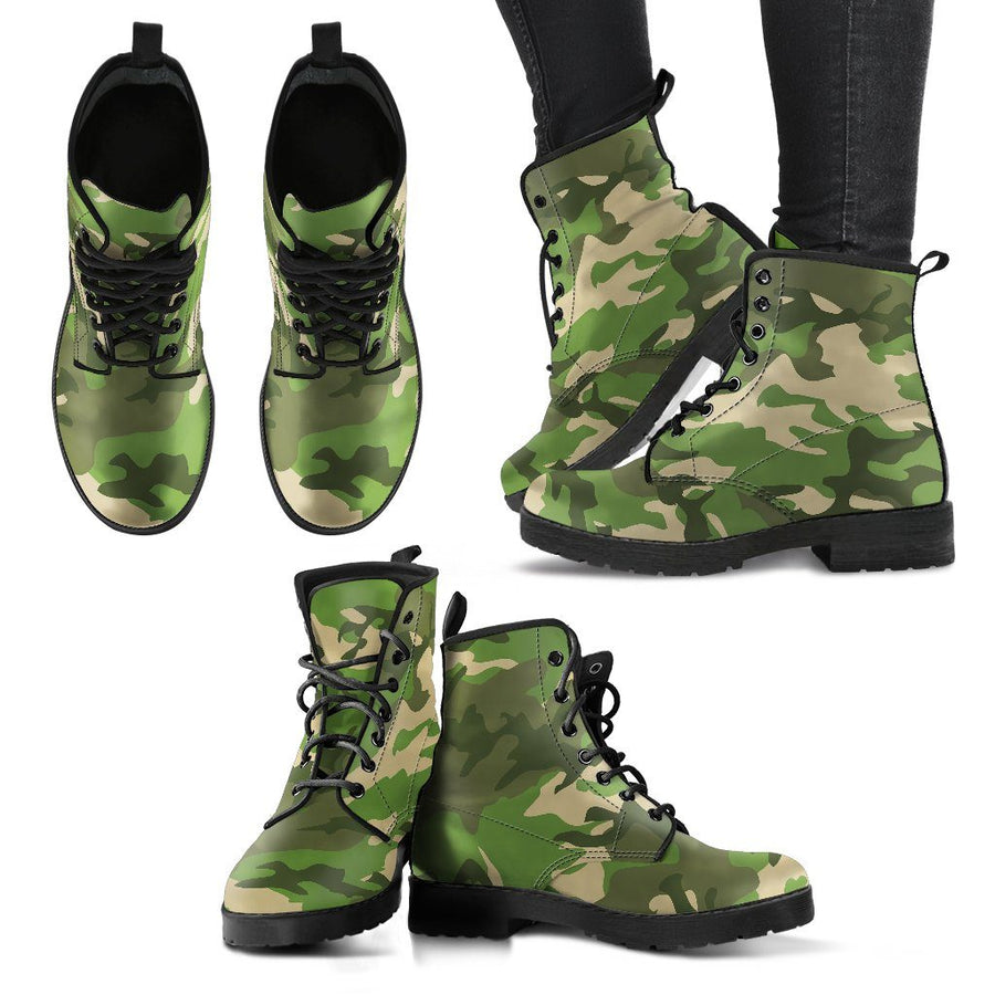 Shoes - Camouflage Jungle - Women's Leather Boots