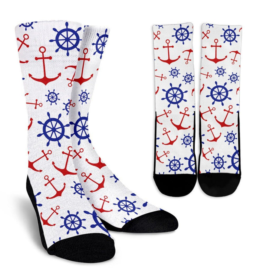 Socks - Anchors & Wheels - Crew Socks