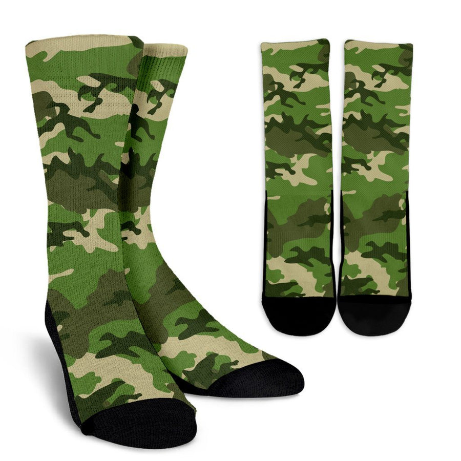 Socks - Camouflage Jungle - Crew Socks