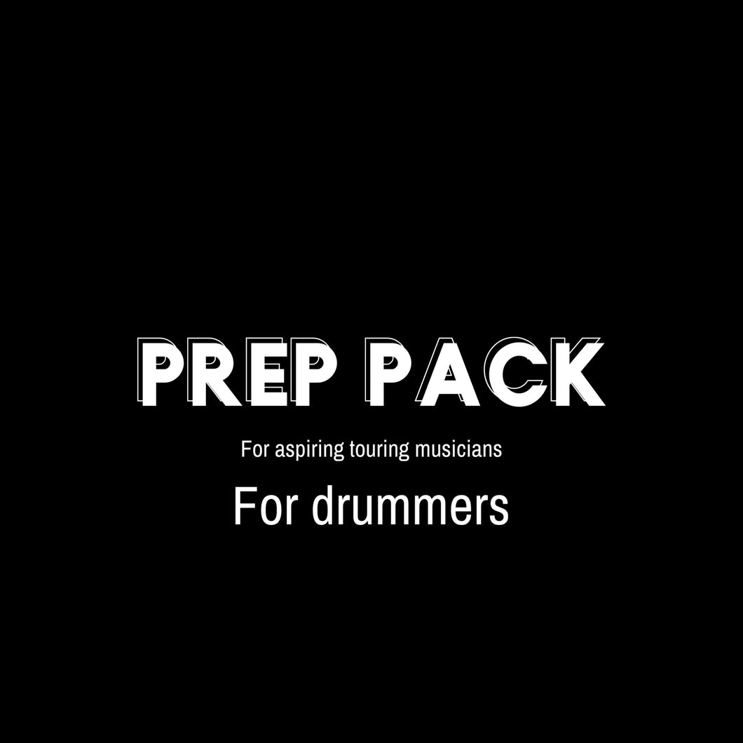 PREP PACK FOR DRUMMERS