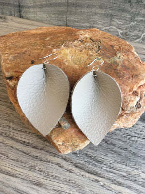 Leather Petal Earrings