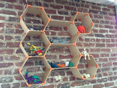 Hexagonal Shelves by gpvillamil at Thingiverse