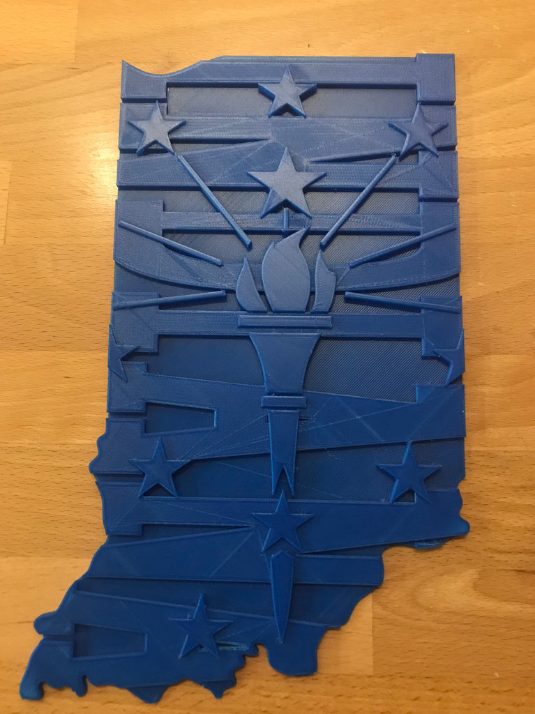 Custom Indiana State Sign