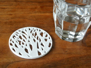 Downloadable Tree Silhouette Coaster 3D Printing File