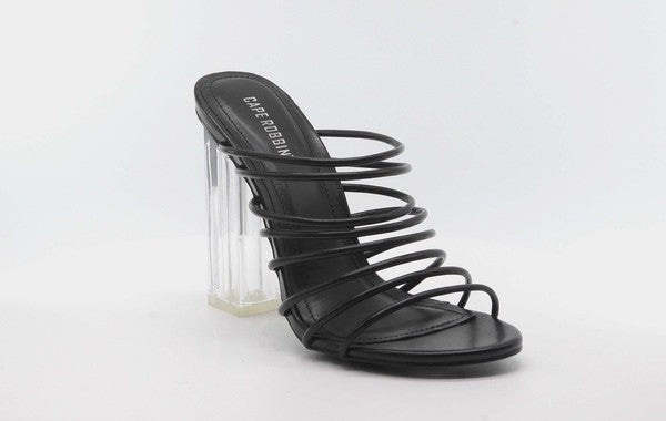 Cape Robbin FIA Black Strappy Heels