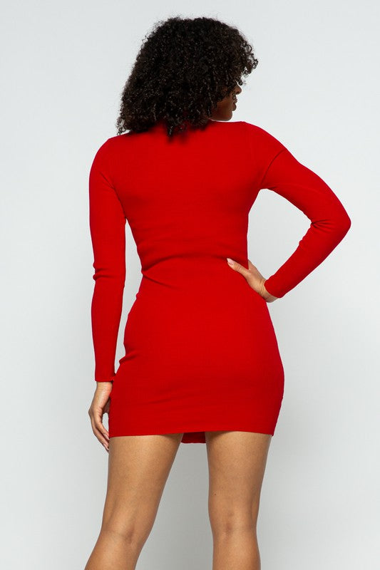 Toya Red Corset Front Mini Dress