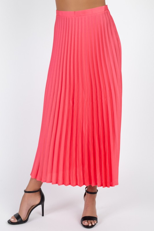 Sorella Coral Pleated Midi Skirt