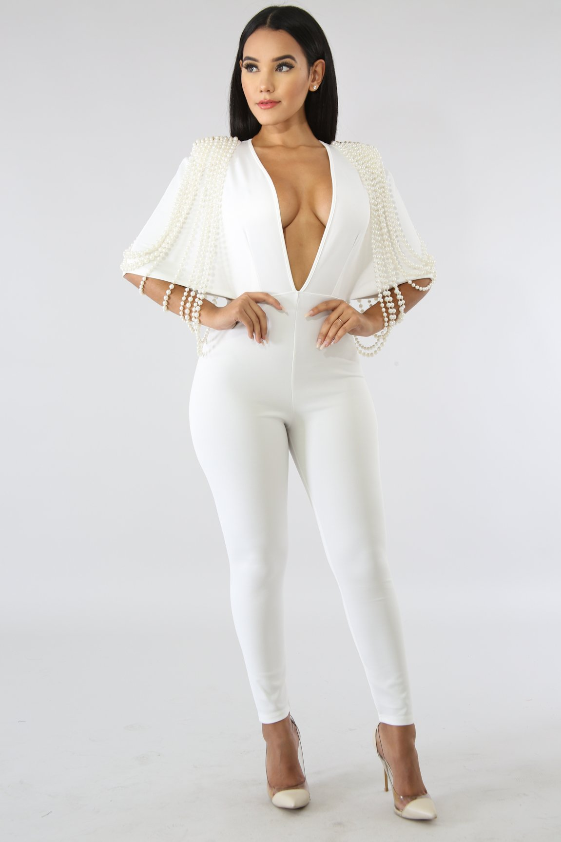 1e1accfb75bd White Pearl Embellished Jumpsuit – STAR GAL STYLES