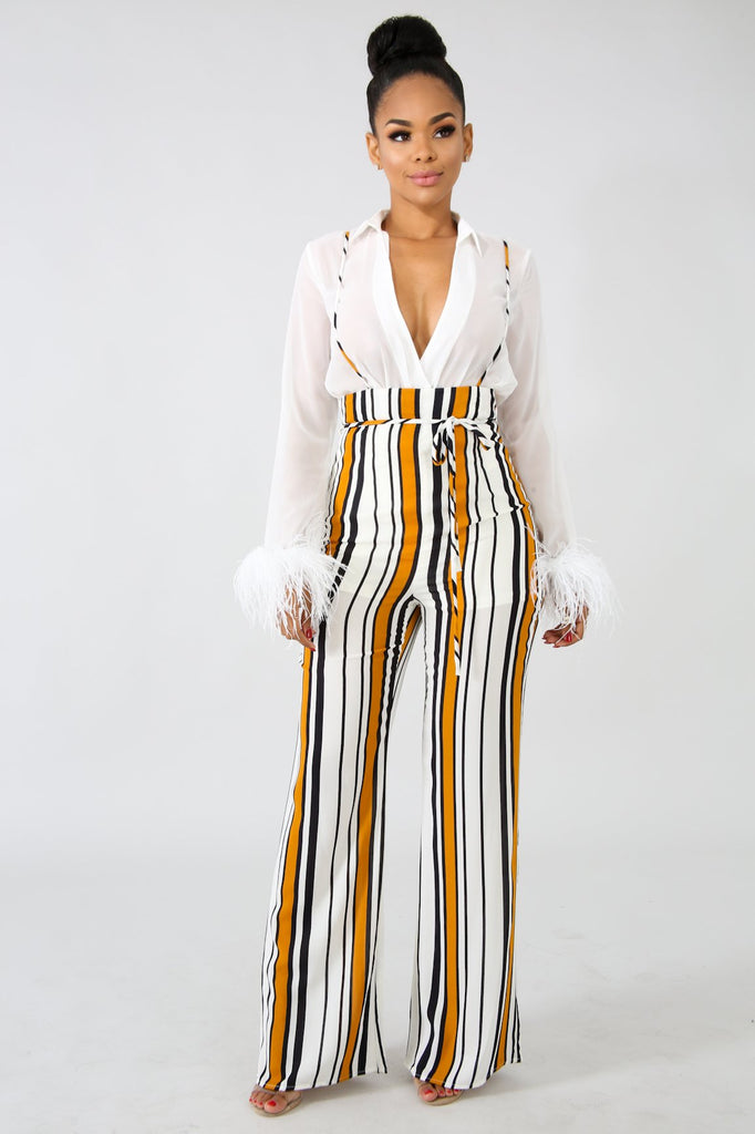 Emory Park Stripe Overal Pant - FINAL SALE