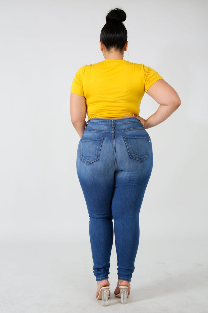 PLUS SIZE Yellow Pearl Crop Top