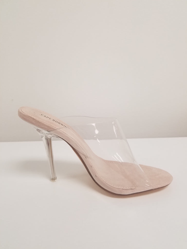 Allure Nude Clear Mules