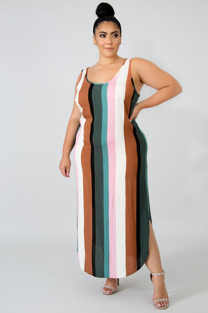 PLUS SIZE Stripe Tunic Dress
