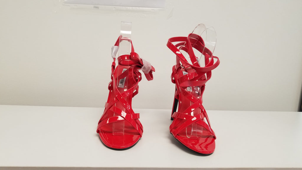 MESMERIZE Red Strappy Heels